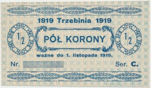 Trzebinia, 1/2 korony 1919 - blankiet