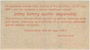 Krynica Zdrój, 1 korona 1919 - blankiet