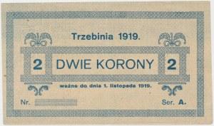 Trzebinia, 2 korony 1919 - blankiet
