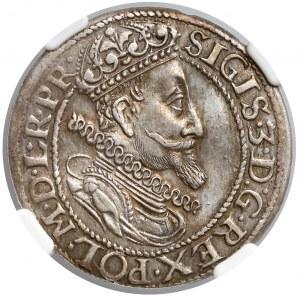 Zygmunt III Waza, Ort Gdańsk 1615 - tarcza spiczasta - NGC AU58