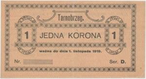 Tarnobrzeg, 1 korona 1919 - blankiet