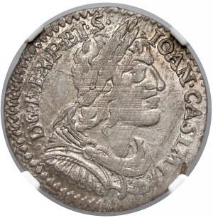 Jan II Kazimierz, Ort Wschowa 1650 - NGC AU58