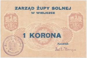 Wieliczka, Zarząd Żupy Solnej, 1 korona (1919)