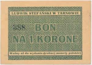 Tarnów, Ludwik Stefański, 1 korona (1919-1920) - blankiet