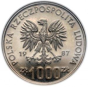 Próba NIKIEL 1.000 złotych 1987 Igrzyska - NGC PF67 C