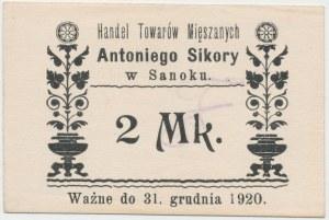 Sanok, Antoni Sikora, 2 marki (ważne do 31.12.1920)