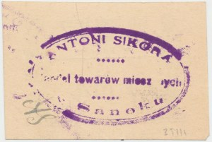 Sanok, Antoni Sikora, 1 marka (ważna do 31.12.1920)