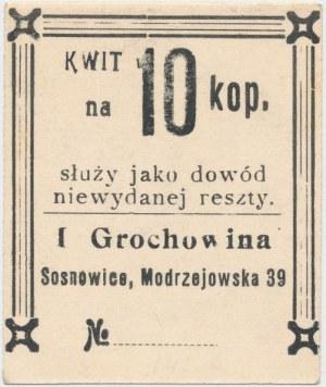 Sosnowice, I. Grochowina, 10 kopiejek - ze stemplem