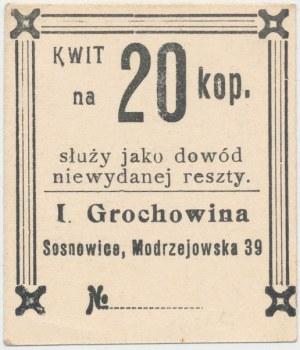 Sosnowice, I. Grochowina, 20 kopiejek - ze stemplem