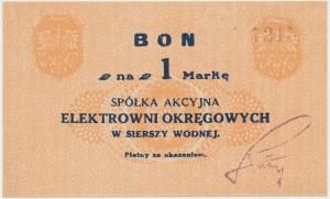 Siersza Wodna, Elektrownia Okręgowa, 1 marka (1920) - fioletowy podpis