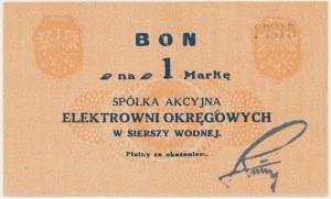 Siersza Wodna, Elektrownia Okręgowa, 1 marka (1920) - granatowy podpis