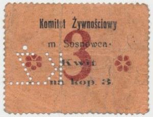 Sosnowiec, Komitet Żywnościowy, 3 kopiejki (1914)