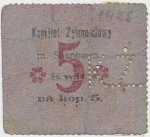 Sosnowiec, Komitet Żywnościowy, 5 kopiejek (1914)