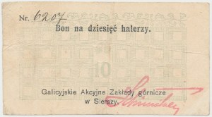 Siersza, Galicyjskie Zakłady Górnicze, 10 halerzy (1919)