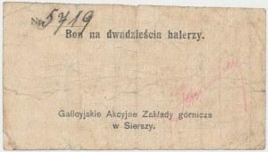 Siersza, Galicyjskie Zakłady Górnicze, 20 halerzy (1919)