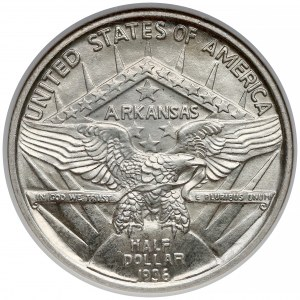 USA, 50 centów (Half Dolar) 1936 - Arkansas, Robinson - NGC MS65