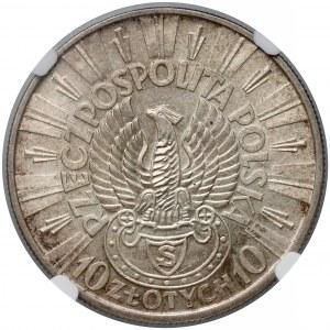 Strzelecki Piłsudski 10 złotych 1934 - NGC MS61
