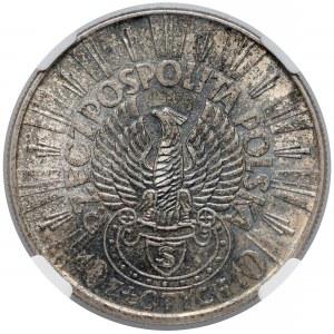 Strzelecki Piłsudski 10 złotych 1934 - NGC MS63