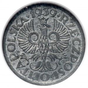 Generalna Gubernia, 1 grosz 1939 - NGC MS62