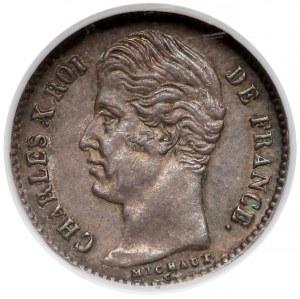 Francja, 1/4 franka 1828-A - NGC AU55