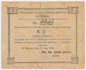 Siersza, Galicyjskie Zakłady Górnicze, 2 korony 1919 -