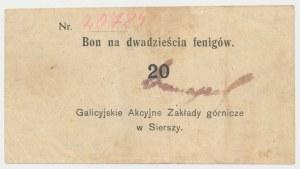 Siersza, Galicyjskie Zakłady Górnicze, 20 fenigów (1920)