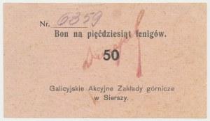 Siersza, Galicyjskie Zakłady Górnicze, 50 fenigów (1920)