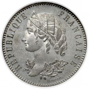 Francja, ESSAI 5 franków 1848 - ANACS PF63