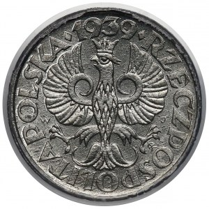 Generalna Gubernia, 1 grosz 1939 - PCGS MS64 - piękny