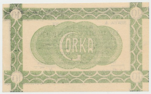 Siersza, Fabryka Cementu GÓRKA, 10 fenigów 1920 - blankiet