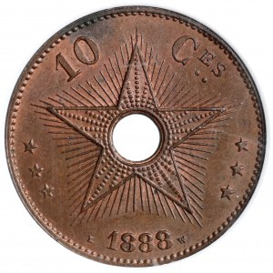 Kongo belgijskie, 10 centimes 1888 - NGC MS63 BN