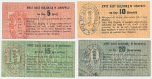 Sosnowiec, od 5 do 20 kopiejek (1914) - zestaw (4szt)