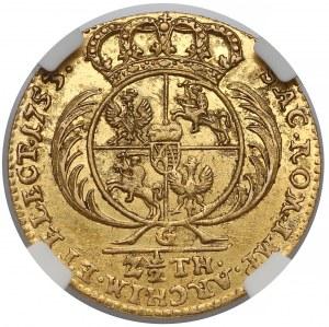 August III Sas, 2-1/2 talara Lipsk 1753-G - rzadki