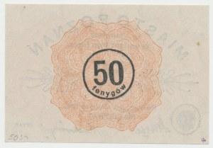 Poznań, 50 fenigów 1919 - znak wodny