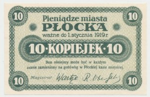 Płock, 10 kopiejek (ważne do 1.1.1919)