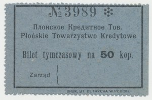 Płońsk, T-wo Kredytowe, 50 kopiejek (1914)