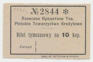 Płońsk, Tow. Kredytowe, 10 kopiejek (1914)