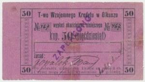 Olkusz, T-wo Wzajemnego Kredytu, 50 kopiejek (1914)