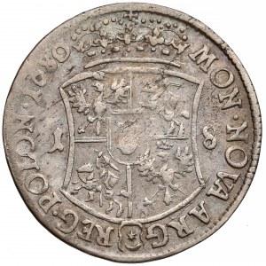 Jan III Sobieski, Ort Bydgoszcz 1680 TLB - wygięta - rzadki