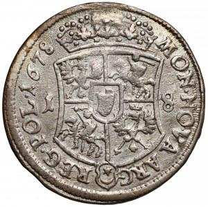Jan III Sobieski, Ort Bydgoszcz 1678 - w tarczy - rzadszy