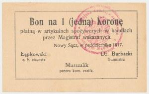Nowy Sącz, 1 korona 1917 - październik