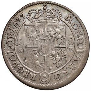 Jan III Sobieski, Ort Bydgoszcz 1677 SB - tarcza prosta