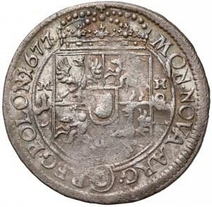 Jan III Sobieski, Ort Bydgoszcz 1677 - litery MH - rzadki i b. ładny