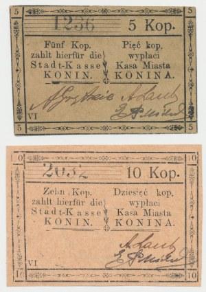 Konin, 5 i 10 kopiejek VI - zestaw (2szt)