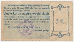 Krynica Zdrój, 5 koron 1919