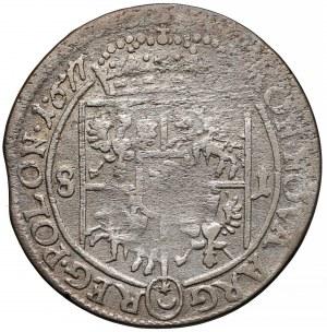 Jan III Sobieski, Ort Bydgoszcz 1677 SB - błąd: 8-1 zamiast 1-8