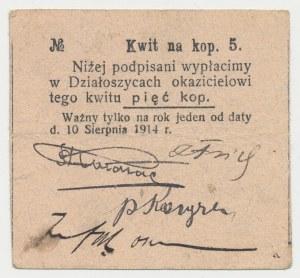 Działoszyce, 5 kopiejek 1914
