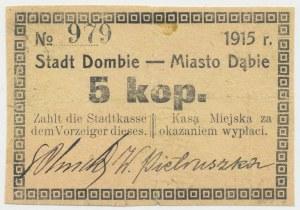 Dąbie, 5 kopiejek 1915