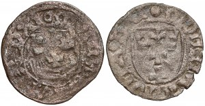 Kazimierz IV Jagiellończyk, Szelągi Gdańsk - kółko i kula (2szt)