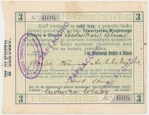 Olkusz, T-wo Wzajemnego Kredytu, 3 ruble 1914